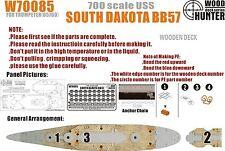 Hunter 1/700 W70085 Wood deck USS Battleship South Dakota for Trumpeter