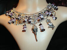 Charm multilayer chain necklace. Pagan Witch Wicca