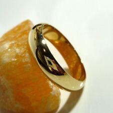 333/8k Oro Anillo Compromiso Oro Amarillo Anillo de cinta 60 (19,1 mm Ø )