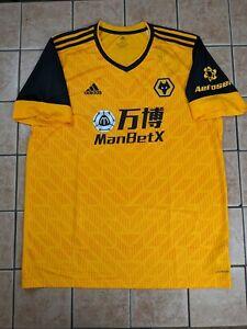 Wolverhampton Wanderers Wolves FC 20/21 Replica Blank Home Jersey Men's Adidas