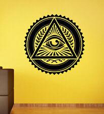 Illuminati Sign Wall Decal All Seeing Eye Vinyl Sticker Wall Murals Home Decor 6