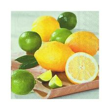 Lemon Fresh BBQ Summer Outdoor Party 20 x Disposable 3 Ply Lunch Paper Napkins
