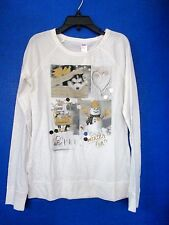 JUSTICE~White WINTER FUN Long Sleeve Shirt w/ Snowmen,Puppy,Sequins~Girls 7~NWOT