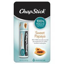 6 Pack ChapStick 100% Natural Sweet Papaya 0.15oz Each