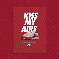 Nike AIR MAX 1 ANNIVERSARIO OG Rosso A2 LIMITED EDITION Sneaker Poster Art Print