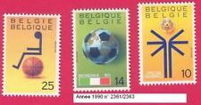 Année 1990  3 Timbres poste Sport. N° 2361-2362-2363