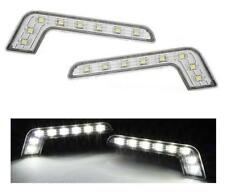 Blanco Brillante Led Forma de L Mercedes Diurnas Estilo Day Luces Marcha