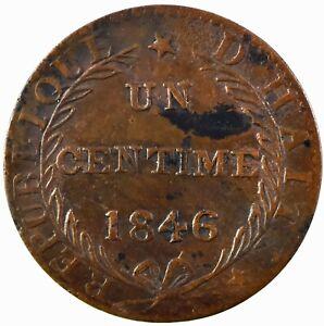 Haiti: Republic 1846//AN43  1 Centime, Copper. EF  KM#24