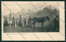 Aosta Grivola Genta cartolina QQ6197