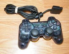 Genuine Sony (SCPH-10010) Clear Blue Wired Controller Only For PlayStation PS2
