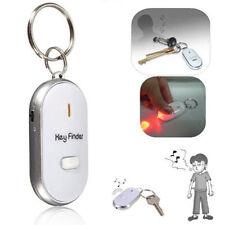 LED Light Anti-lost Key Finder Locator Keychain Whistle Beep Sound Alarm Torch