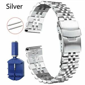 18 19 20 21 22 23 24 26 28 30mm Glossy Matte Stainless Steel Strap Watch Band