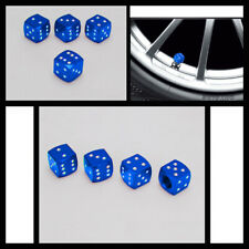 4PCS Blue Dice Tire/Wheel Stem Air Valve CAPS Covers set Universal FitmentNewATV