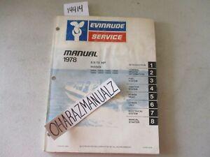 1978 EVINRUDE 9.9 / 15 HP Motor Engine Service Manual