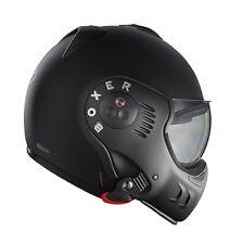 Klapp Helm ROOF BOXER V8 Full Black Farbe: Schwarzmatt Gr: M=(58)