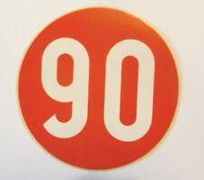 VECCHIO ADESIVO AUTO / Old Car Sticker _ LIMITE DI VELOCITA' 90 KM/H (cm 12)