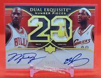2007 Michael Jordan LeBron James Dual Auto Card!  Near Mint++ to Mint!!