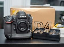 Nikon D4 16.2MP Digital SLR Camera Body with Box EX CONDITION! Low Shutter