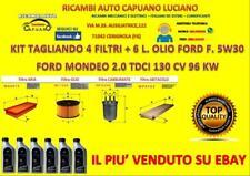 KIT TAGLIANDO FORD MONDEO III 2.0 TDCI 130CV 96KW DAL 10/01 AL 03/07 + FORD 5W30