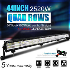 9D Quad-Row 2520W CREE 44Inch LED Work Light Bar Flood Spot Combo Driving VS 52""
