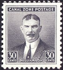 Canal Zone - 1940 - 30 Cents Black Col. Williamson # 113 Dry Printing Mint & VF