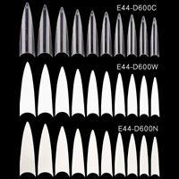 600*Clear Extra Long Point Acrylic Stiletto False Nail Tips Gel Salon Tip Nails