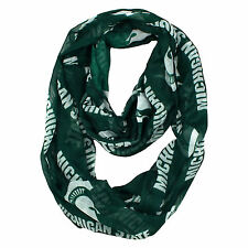 new Women's NCAA MICHIGAN STATE UNIVERSITY SPARTANS SHEER INFINITY SCARF jewelry