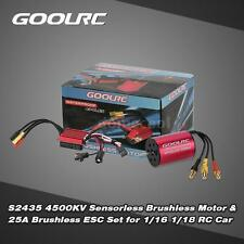 GoolRC S2435 4500KV Brushless Motor and 25A Brushless ESC Combo for RC Car B0Y7