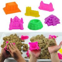6Pcs Funny Big Beach Motion Sand Castle Building Model Mold Beach Toys Xmas Gift