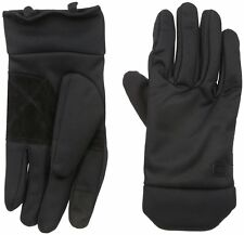 Dockers Men's Touchscreen Stretch Glove With Fabric Palm, black, Size XL