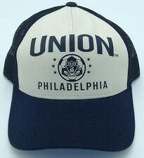 Mls Philadelphia Union Adidas Structured Snap Back Half Mesh Cap # Vo07Z New!
