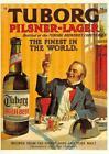 COPENHAGEN, Denmark  TUBORG PILSNER-LAGER Beer Advertising  OVERSIZE Postcard