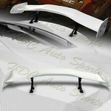 """Universal 57"""" TYPE-1 Painted White ABS GT Trunk Adjustable Bracket Spoiler Wing"""