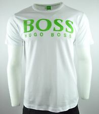 HUGO BOSS Wave Texture Crew Neck Logo SS T-Shirt From Green Collection 50% Off