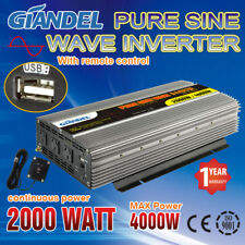Large Shell Pure Sine Wave Power Inverter2000W/4000W12V-240V With Remote Control