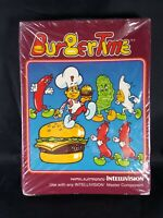BurgerTime Burger Time Complete Intellivision Game is sealed but box was smashed