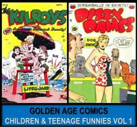 Golden Age 133 ACG COOKIE THE KILROY COMIC BOOKS Lot DVD Cartoon Humor Funny [1]