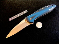KERSHAW KEN ONION LEEK--1660BB--BLACK / BLUE SMOKE--FOLDING--LOCKING KNIFE