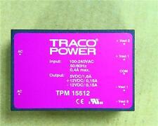 Tracopower 15w 3 Interruttore output incorporato modalità alimentazione 5v DC @ 1.6a ± 12v @ 1.5a