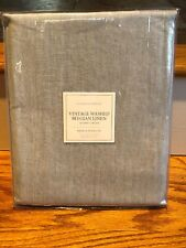 Restoration Hardware Vintage Washed Belgian Linen Shower Curtain Eucalyptus