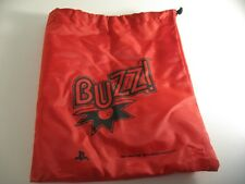 BUZZ BUZZERS RED STORAGE carry BAG - WIRED or WIRELESS - SONY PS3 PLAYSTATION 3