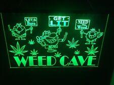 Marijuana Weed Man Cave Led Neon Light Sign Game Room ,Bar garage