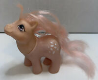 Vtg 1984 My Little Pony Baby COTTON CANDY Pink White Spots Purple Eye Hasbro G1