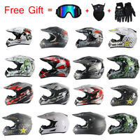 Off-road Casco Motorcycle Helmet Dirt Bike Motocross Racing Helmet & 3Pcs Gift