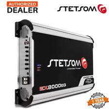 Stetsom Ex 8000 1 Ohm Mono High Power Car Audio Amplifier Full Range Amp EQ 8K