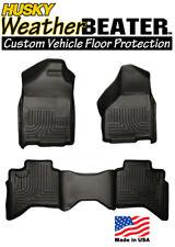 Husky 98031 Weatherbeater Rubber Floor Mats Front & Rear 02-09 Dodge Ram Quadcab