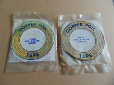 Copper foil tape for stained glass work Two rolls new old stock