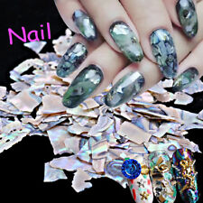 1 Pack Pearl Light Natural SeaShell Slices Particle Crushed Shell Nail Art Decor