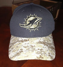 MIAMI DOLPHINS NEW ERA 39THIRTY NFL SALUTE TO SERVICE STRETCH FIT HAT  LARGE-XLG aa0f725bbd2b