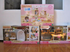 Calico Critters Furniture Lot - Bathroom, Living Room and Baby's Nursery